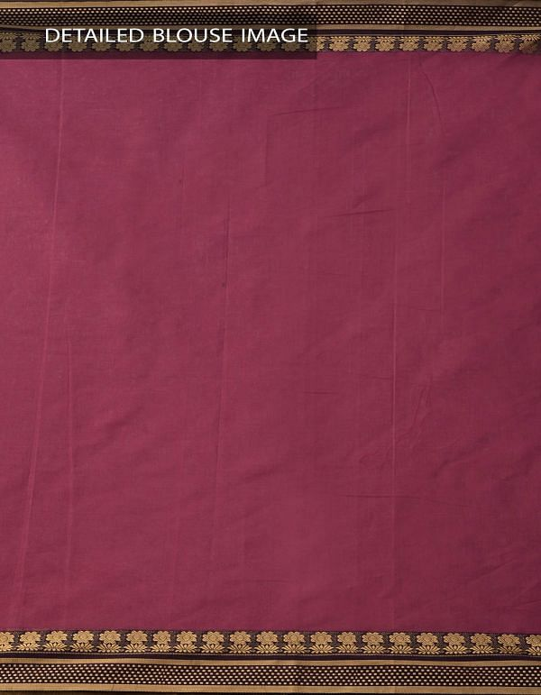 Online Shopping for Pink Pure Narayanpet Cotton Saree with Thread Woven Border with Weaving from Andhra Pradesh at Unnatisilks.comIndia