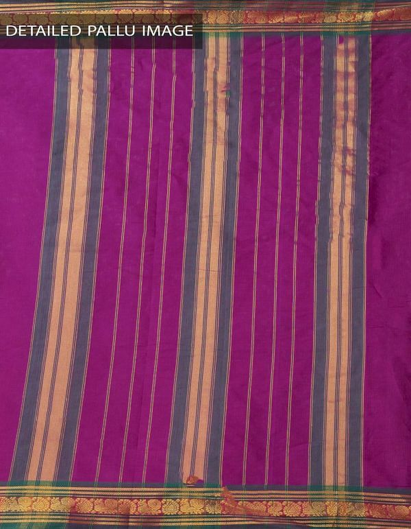 Online Shopping for Pink Pure Narayanpet Cotton Saree with Peacock Border with Weaving from Andhra Pradesh at Unnatisilks.comIndia