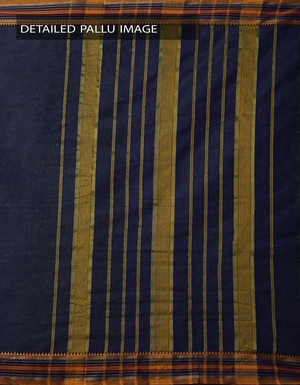Online Shopping for Blue-Green Pure Narayanpet Cotton Saree with Weaving from Andhra Pradesh at Unnatisilks.comIndia