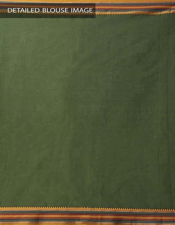 Online Shopping for Green Pure Narayanpet Cotton Saree with Weaving from Andhra Pradesh at Unnatisilks.comIndia