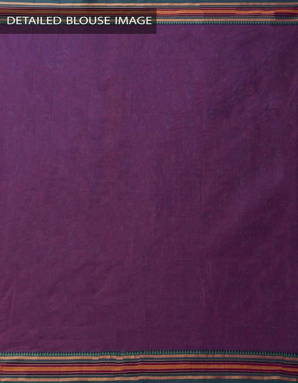 Online Shopping for Purple Pure Narayanpet Cotton Saree with Weaving from Andhra Pradesh at Unnatisilks.comIndia