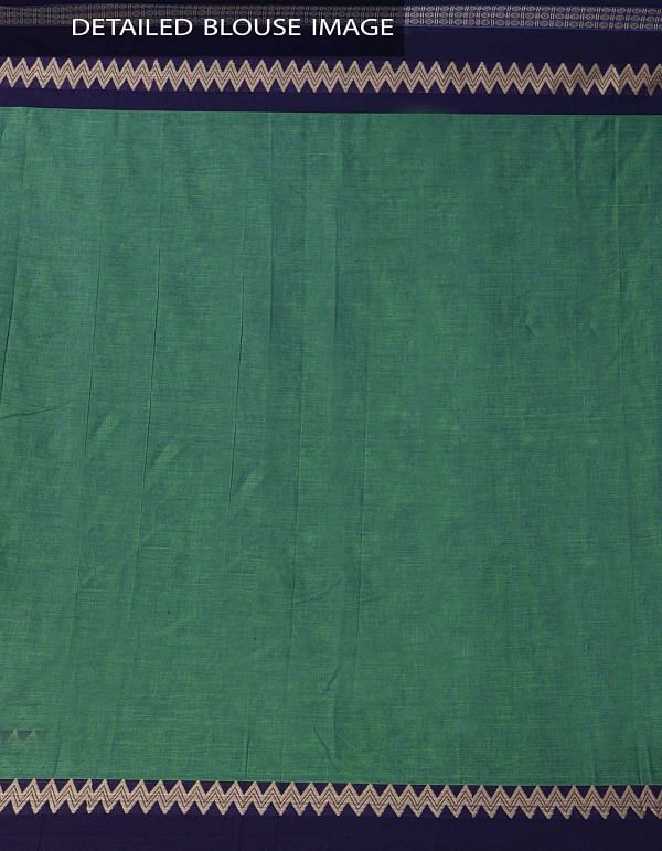 Green Pure Handloom Narayanpet Cotton Saree with Tassels-UNM37527