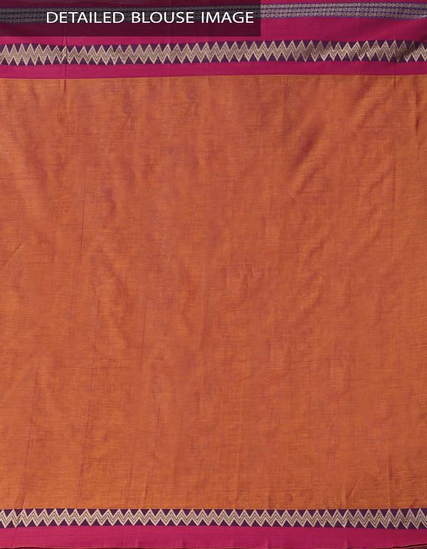 Online Shopping for Orange Pure Handloom Narayanpet Cotton Saree with Tassels with Weaving from Andhra Pradesh at Unnatisilks.comIndia