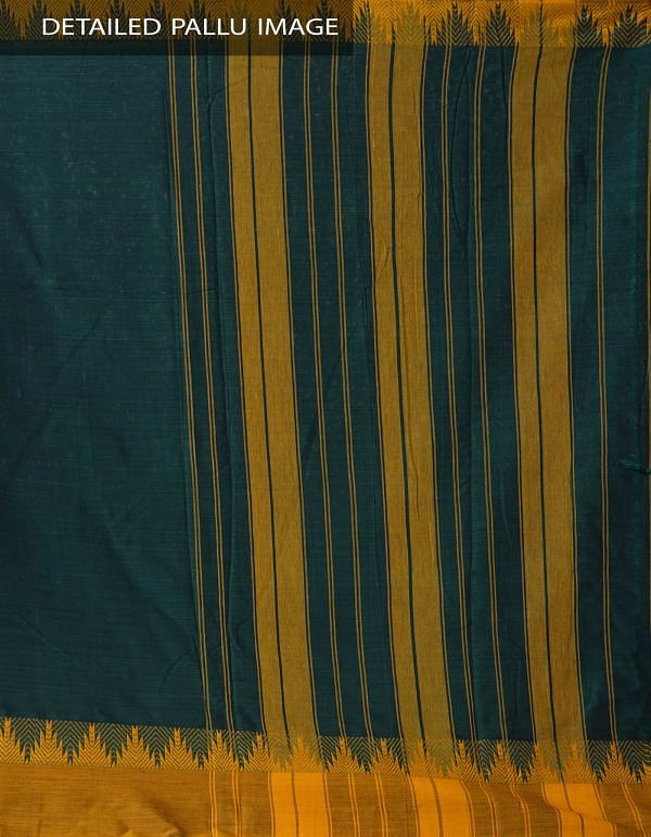 Online Shopping for Green Pure Handloom Narayanpet Cotton Saree with Tassels with Weaving from Andhra Pradesh at Unnatisilks.comIndia