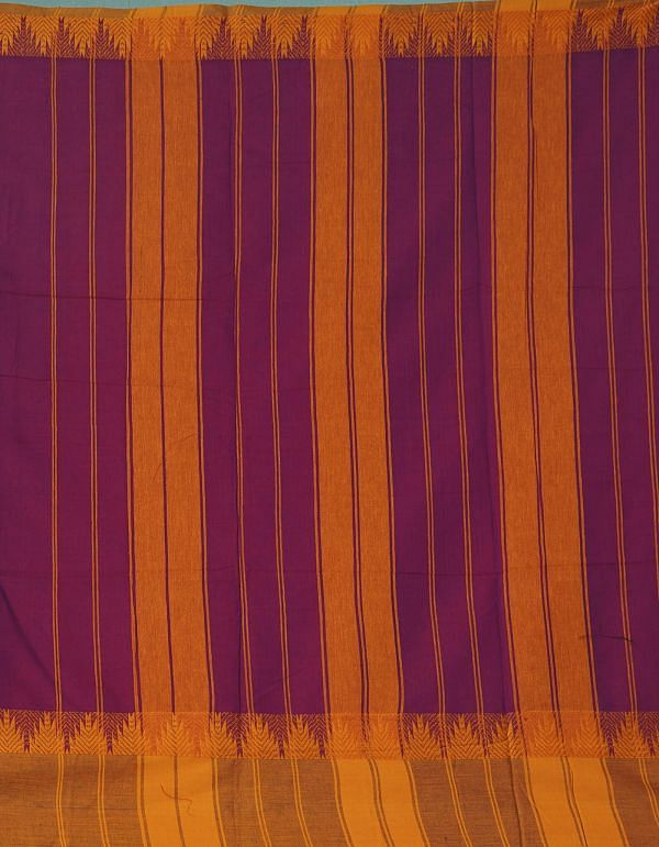 Online Shopping for Purple Pure Handloom Narayanpet Cotton Saree with Tassels with Weaving from Andhra Pradesh at Unnatisilks.comIndia