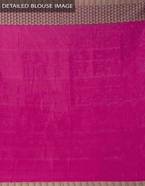 Pink Pure Handloom Narayanpet Cotton Saree with Tassels-UNM37626