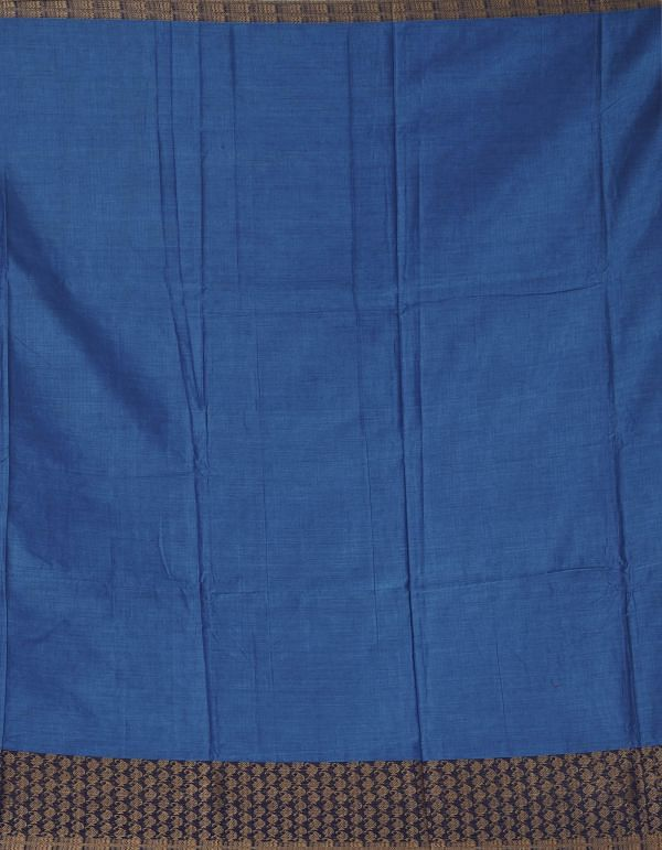 Online Shopping for Blue Pure Handloom Narayanpet Cotton Saree with Tassels with Weaving from Andhra Pradesh at Unnatisilks.comIndia