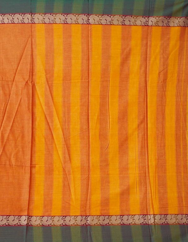 Online Shopping for Yellow Pure Handloom Narayanpet Cotton Saree with Tassels with Weaving from  Andhra Pradesh at Unnatisilks.comIndia