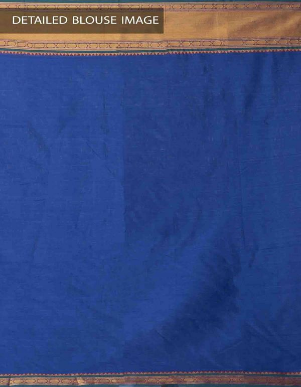 Violet Pure Handloom Narayanpet Cotton Saree with Tassels -UNM37655