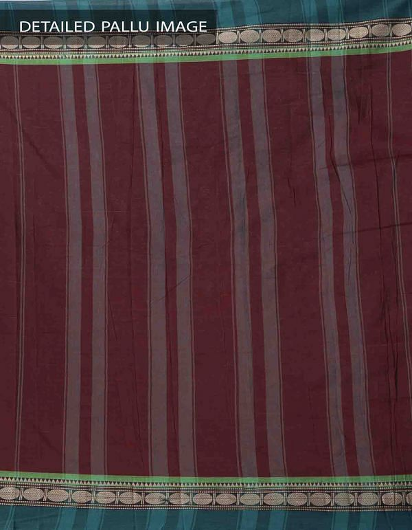 Online Shopping for Maroon Pure Handloom Narayanpet Cotton Saree with Tassels with Weaving from  Andhra Pradesh at Unnatisilks.comIndia