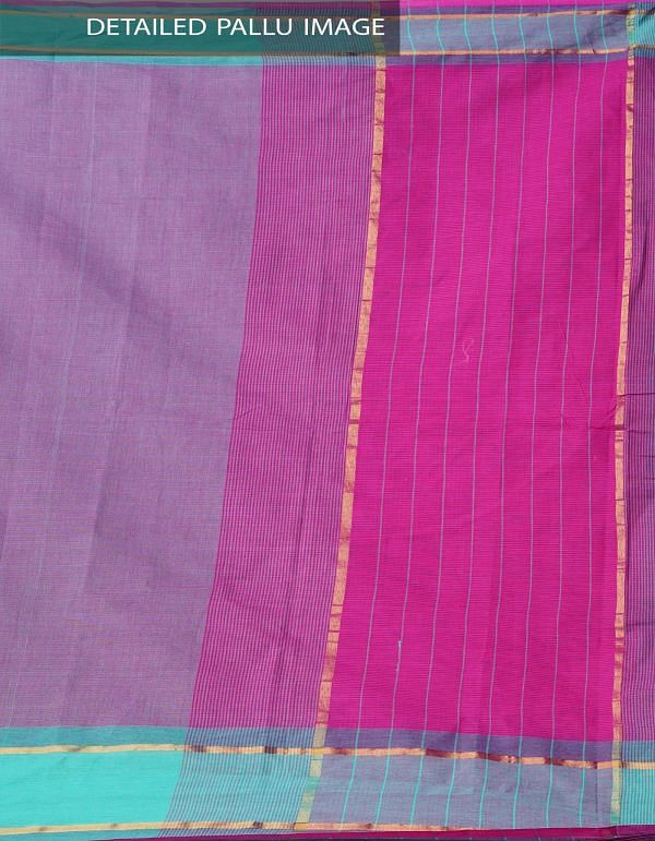 Online Shopping for Pink-Green Pure Mangalagiri Cotton Saree with Tassels with Weaving from Andhra Pradesh at Unnatisilks.comIndia