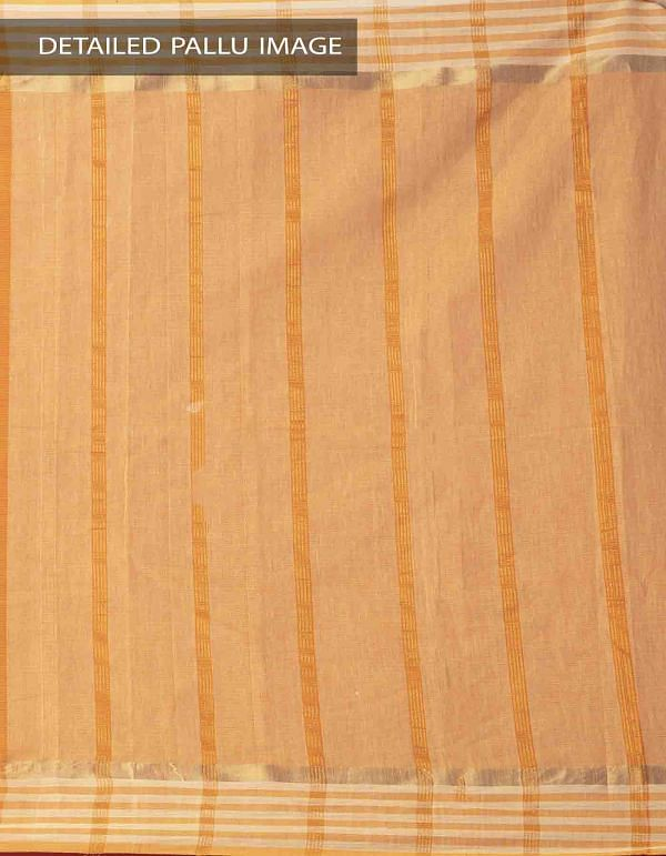 Online Shopping for Yellow Pure Mangalagiri Cotton Saree with Tassels with Weaving from Andhra Pradesh at Unnatisilks.comIndia