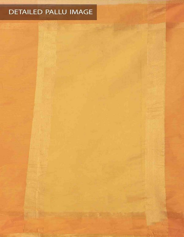 Online Shopping for Yellow-Orange Pure Mangalagiri Cotton Saree with Tassels with Weaving from Andhra Pradesh at Unnatisilks.comIndia