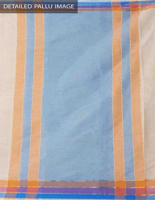 Online Shopping for Beige Pure Mangalagiri Cotton Saree with Tassels with Weaving from Andhra Pradesh at Unnatisilks.comIndia