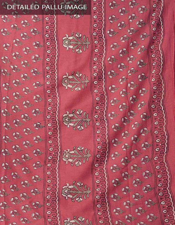 Online Shopping for Red Hand Block Printed Pure Kota Cotton Saree with Hand Block Prints from Rajasthan at Unnatisilks.comIndia