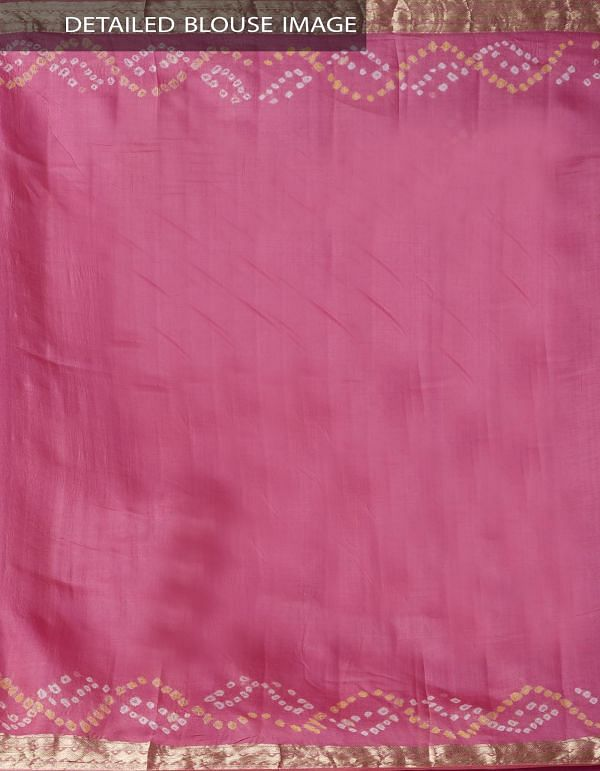 Brown Pure Bandhani Silk Saree -UNM37967