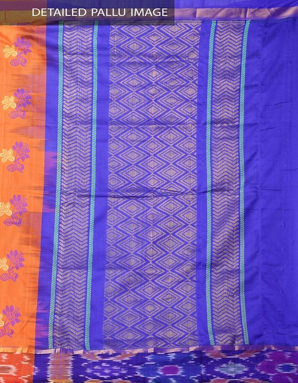 Orange Pure Handloom Dharmavaram Uppada Silk Cotton Saree -UNM37992