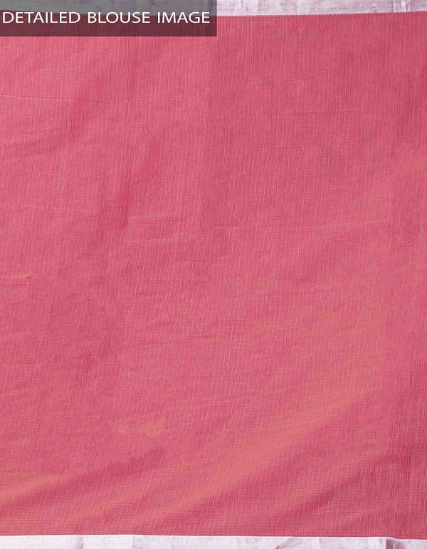 Red Block Printed Kota Cotton Saree