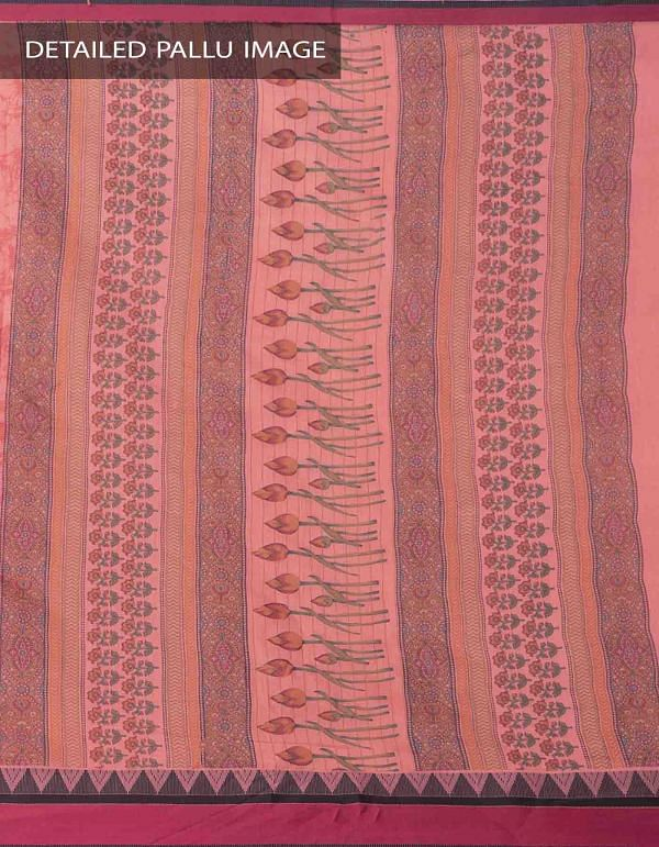 Online Shopping for Red Printed Chanderi Sico Saree with Prints from  Madhya Pradesh at Unnatisilks.comIndia