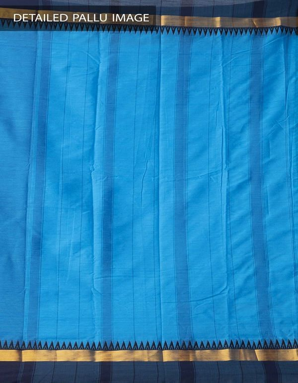 Online Shopping for Blue Pure Handloom Narayanpet Silk Cotton Saree with Tassels with Weaving from Andhra Pradesh at Unnatisilks.comIndia