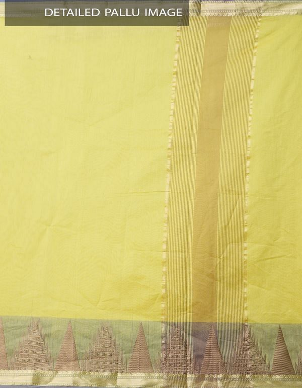 Online Shopping for Yellow Pure Kanchi Sico Saree with Weaving from Tamilnadu at Unnatisilks.comIndia