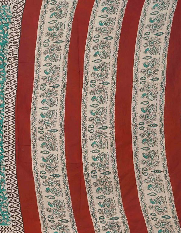Online Shopping for Green Bagru Printed Pure Rajasthani Cotton Saree with  Bagru Prints from Rajasthan at Unnatisilks.comIndia