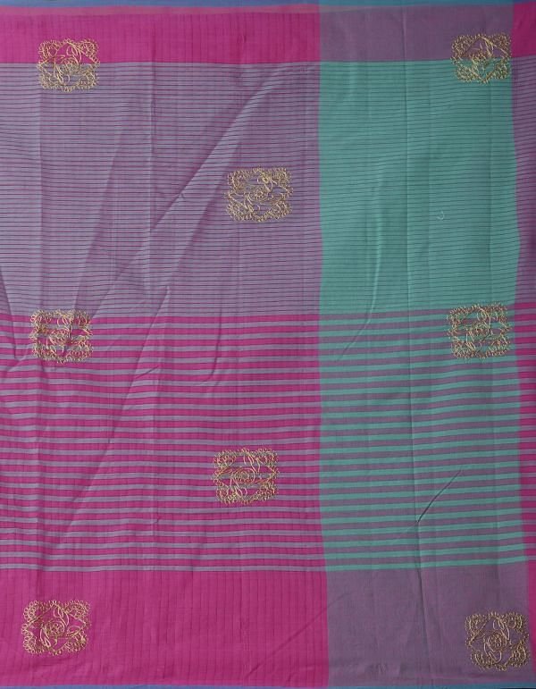 Online Shopping for Pink Pure Handloom Mangalgiri Cotton Saree  with Embroidery Work from Andhra Pradesh at Unnatisilks.comIndia