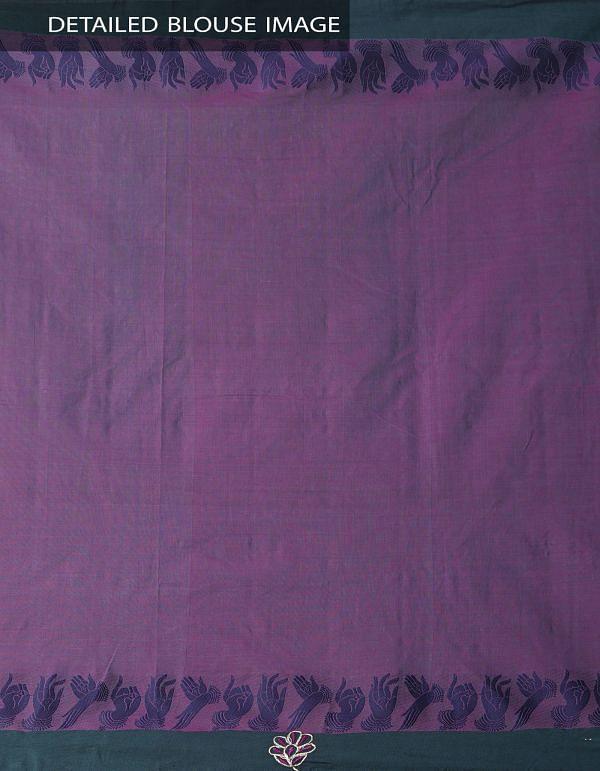 Purple Pure Handloom Kanchi Cotton Saree