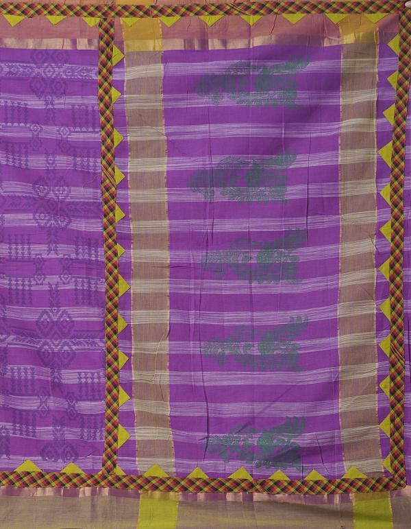 Online Shopping for Purple Pure Mangalagiri Applique  Cotton Saree with Applique from Andhra Pradesh at Unnatisilks.comIndia