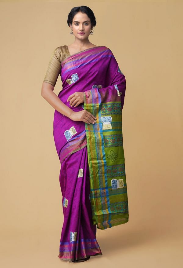 Pink Pure Chettinad Silk cotton Saree