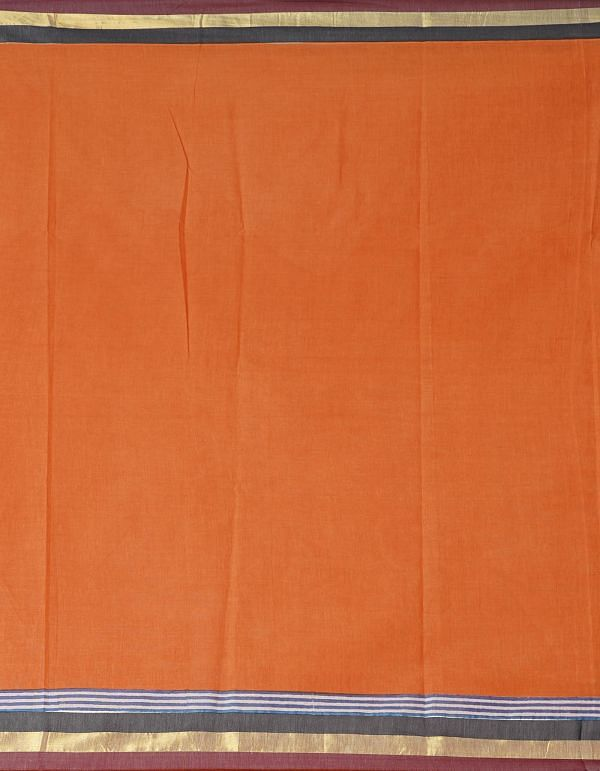 Online Shopping for OrangePure Kerala Cotton Saree with Hand Block Prints with Batik Prints from Rajasthan at Unnatisilks.comIndia