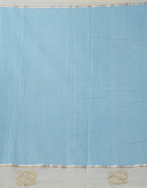 Blue Pure Handloom Mangalgiri Cotton Saree