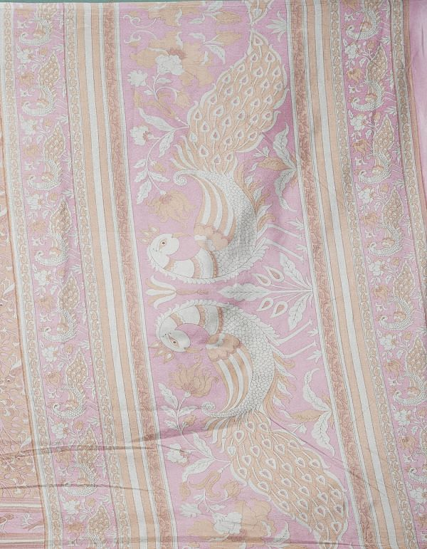 Online Shopping for Pink  Fancy Printed Crepe Soft Silk Saree with Fancy/Ethnic Prints from Punjab at Unnatisilks.comIndia
