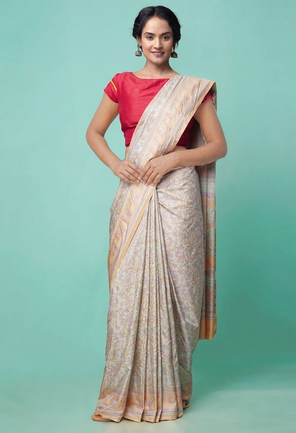 Online Shopping for Green  Fancy Printed Crepe Soft Silk Saree with Fancy/Ethnic Prints from Punjab at Unnatisilks.comIndia