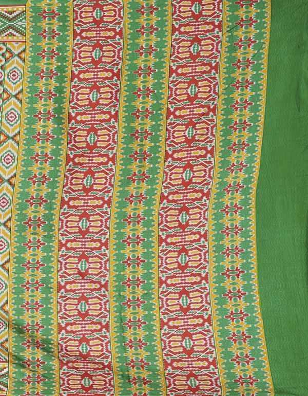 Online Shopping for Green  Patola Printed Crepe Soft Silk Saree with Fancy/Ethnic Prints from Punjab at Unnatisilks.comIndia