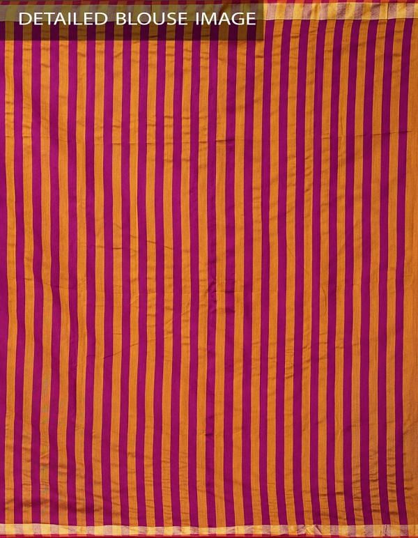 Yellow-Pink Pure Handloom Bengal Ikat Cotton Saree with Tassels