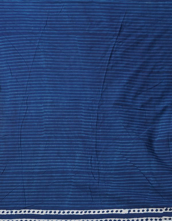 Online Shopping for Indigo Blue Pure Kota Cotton Saree with Dabu Prints with Dabu from Rajasthan at Unnatisilks.comIndia