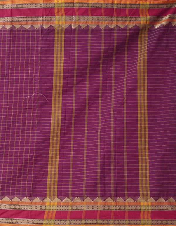 Pink Pure Handloom Chettinad Cotton Saree.