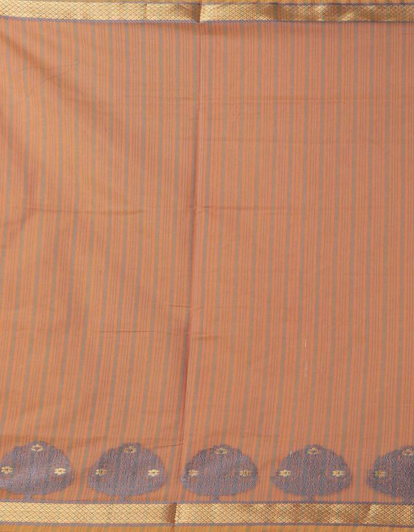 Orange Pure Kanchi Sico Saree