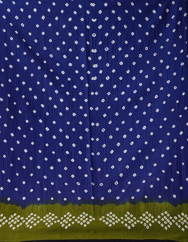 Online Shopping for Green-Blue Pure Bandhani Cotton Saree with Tie and Dye Bandhani Prints from Rajasthan at Unnatisilks.comIndia