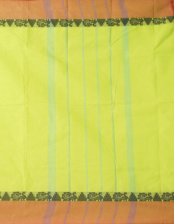 Online Shopping for Green Pure Handloom Kanchi Cotton Saree with Weaving from Tamilnadu at Unnatisilks.comIndia
