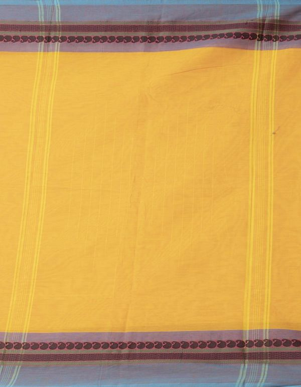 Yellow Pure Handloom Kanch Cotton Saree