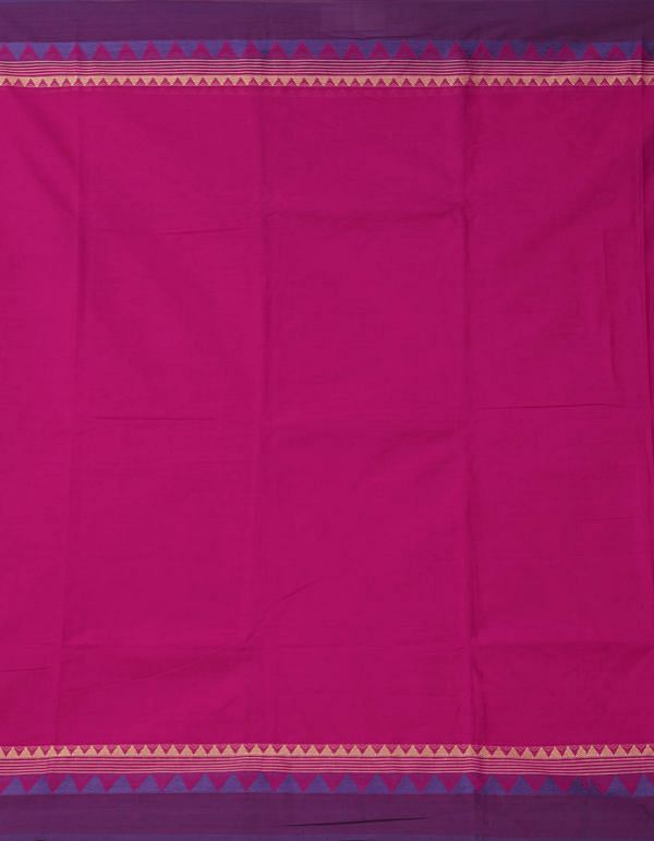 Pink Pure Handloom Kanch Cotton Saree
