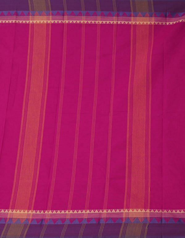 Online Shopping for Pink Pure Handloom Kanch Cotton Saree with Weaving from Tamilnadu at Unnatisilks.comIndia
