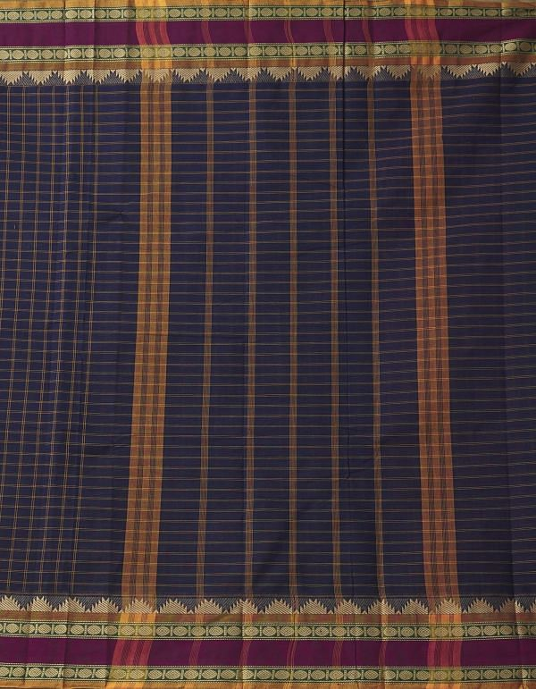 Online Shopping for Black Pure Handloom Chettinad Cotton Saree with Weaving from Tamilnadu at Unnatisilks.comIndia