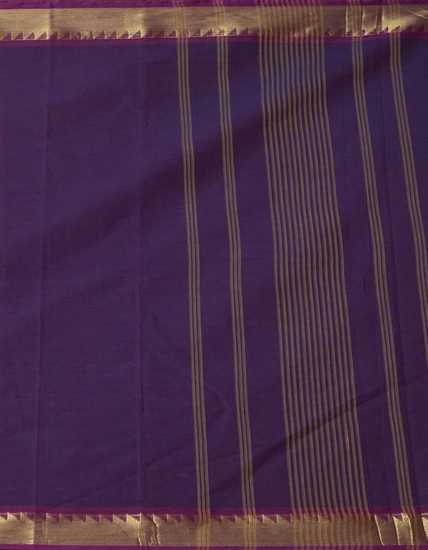 Online Shopping for Purple Pure Handloom Kanchi Cotton Saree with Weaving from Tamilnadu at Unnatisilks.comIndia