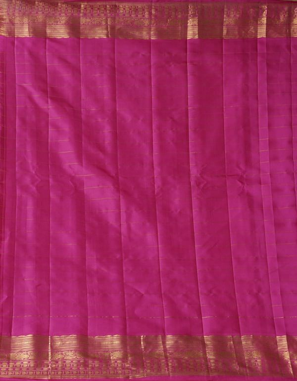 Blue Pure Handloom Gadwal Silk Checks Saree