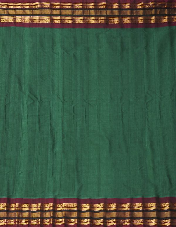 Green Pure Gadwal Sico Saree