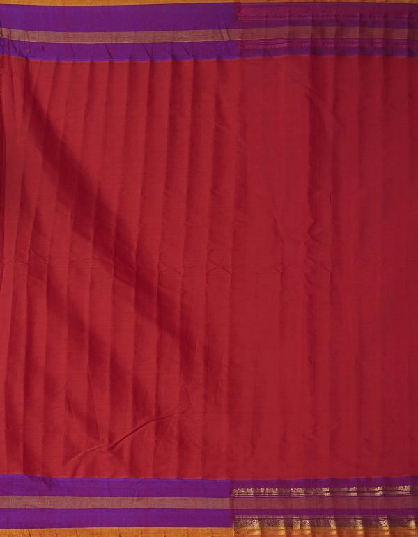Online Shopping for Red Pure Gadwal Sico Saree  with Weaving from Telangana at Unnatisilks.comIndia