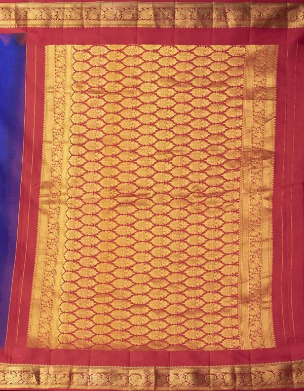 Blue Pure Handloom Gadwal Silk Saree